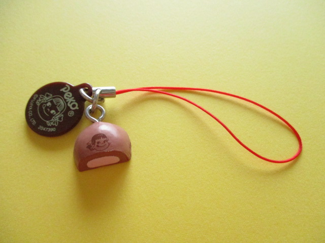 Photo1: Peko Chan Cake Strap Charm Collection Fujiya Chocolate Puff *Strawberry Cream
