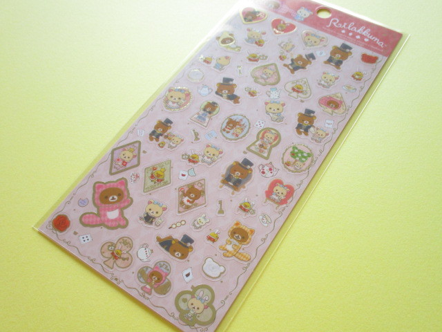 Photo1: Kawaii Cute Sticker Sheet Rilakkuma San-x *Rilakkuma Alice in Wonderland (SE36202)