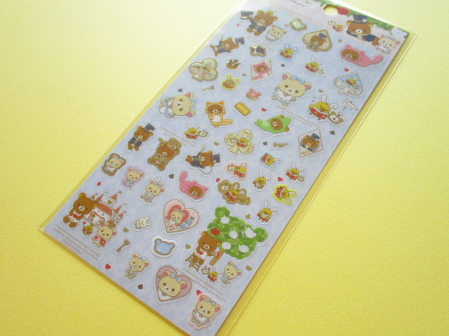 Photo1: Kawaii Cute Sticker Sheet Rilakkuma San-x *Rilakkuma Alice in Wonderland (SE36201)