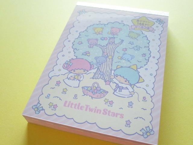 Photo1: Kawaii Cute Large Memo Pad Sanrio Original *Little Twin Stars (86657-1)