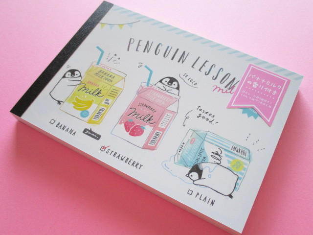 Photo1: Kawaii Cute Large Memo Pad Enchanted Time Q-LiA *Penguin Lesson (34250)