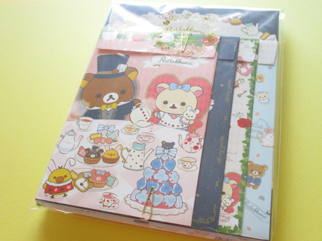 Photo1: Kawaii Cute Regular Letter Set San-x Rilakkuma *Rilakkuma Alice in Wonderland (LH65201)