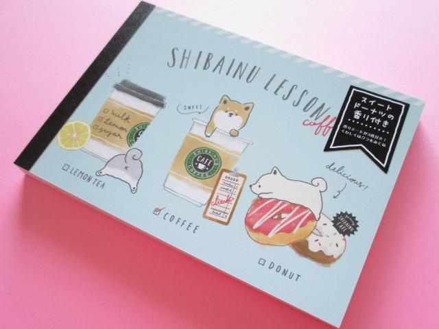 Photo1: Kawaii Cute Large Memo Pad Enchanted Time Q-LiA *Shibainu Lesson (34249)