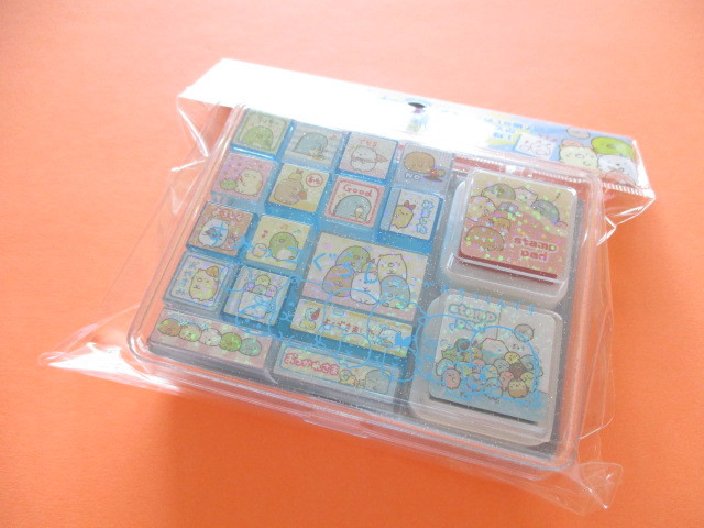 Photo1: Kawaii Cute Rubber Stamps Set San-x *Sumikkogurashi (FT48501)