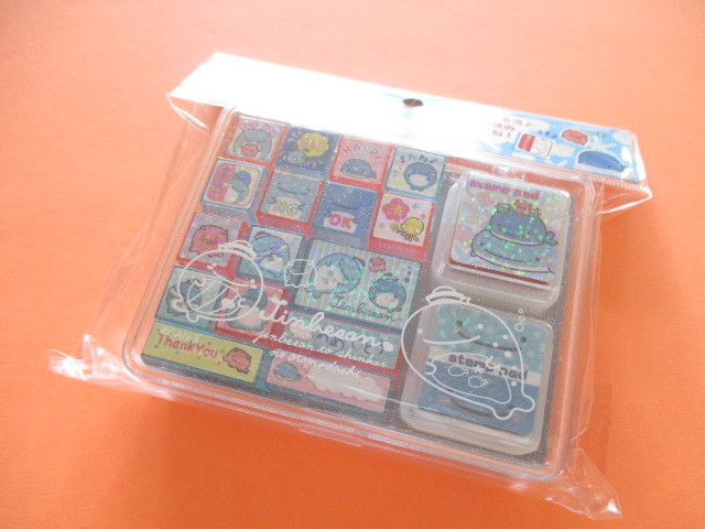 Photo1: Kawaii Cute Rubber Stamps Set San-x *Jinbesan (FT48701)