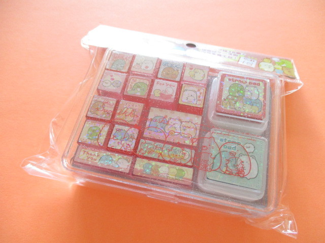 Photo1: Kawaii Cute Rubber Stamps Set San-x *Sumikkogurashi (FT48401)