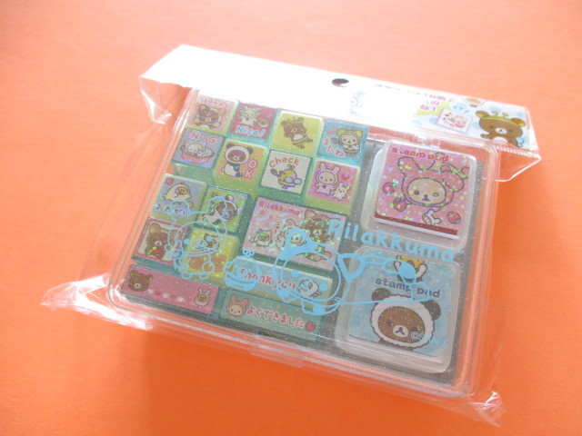 Photo1: Kawaii Cute Rubber Stamps Set San-x *Rilakkuma (FT48201)