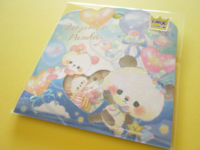 Photo1: Kawaii Cute Sticker Flakes Sack Crux *Mojimoji Panda (05813)