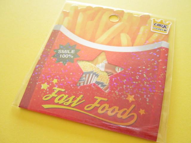 Photo1: Kawaii Cute Sticker Flakes Sack Crux *Fast Food (05817)