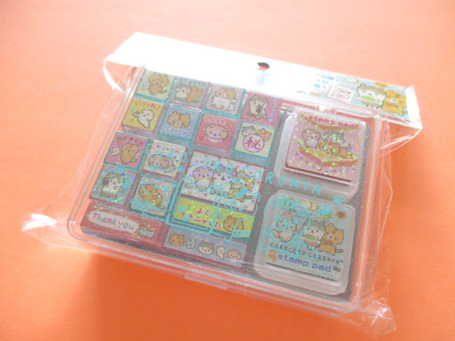 Photo1: Kawaii Cute Rubber Stamps Set San-x *Corocorocoronya (FT48801)