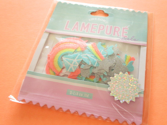 Photo1: Kawaii Cute Lamepure Sticker Flakes Sack Q-LiA *Fairy Tale (31073)