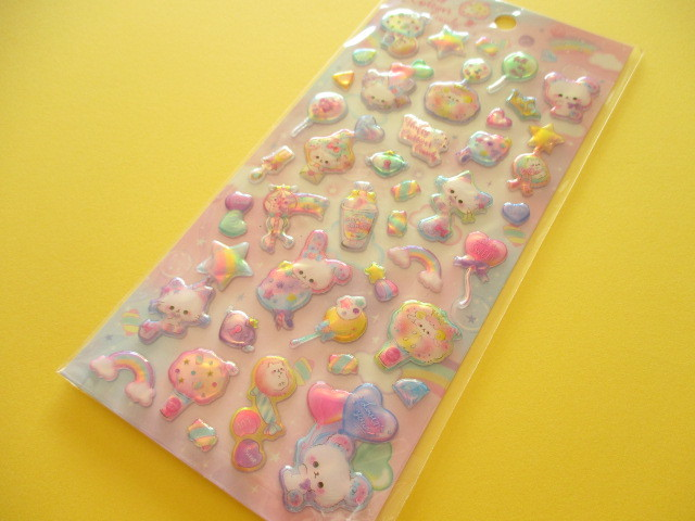 Photo1:  Kawaii Cute Aurora Sponge Sticker Sheet Q-LiA *Fluffy Cotton Party (31065)