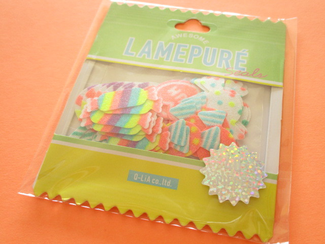 Photo1: Kawaii Cute Lamepure Sticker Flakes Sack Q-LiA *Candy (31074)
