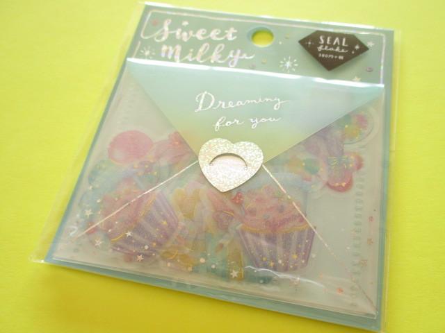 Photo1: Kawaii Cute Sweet Milky Stickers Sack Crux *Twinkle Party (05827)