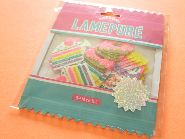 Photo1: Kawaii Cute Lamepure Sticker Flakes Sack Q-LiA *Sweets (31075)