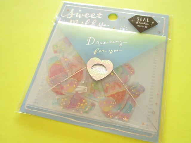 Photo1: Kawaii Cute Sweet Milky Stickers Sack Crux *Magical Beverage (05832)