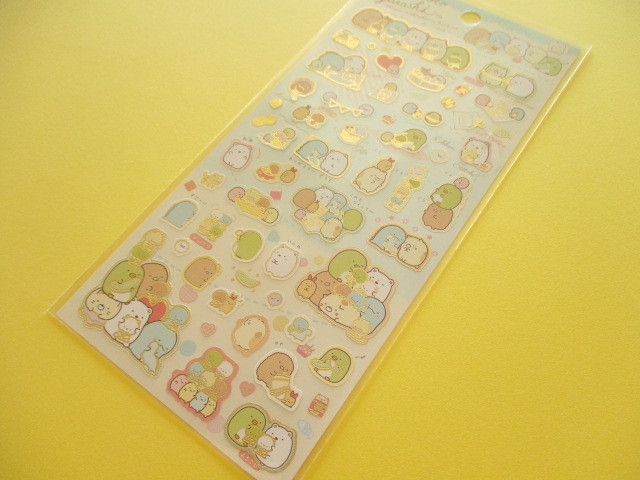 Photo1: Kawaii Cute Sticker Sheet Sumikkogurashi San-x *しろくまのてづくりぬいぐるみ (SE36902)