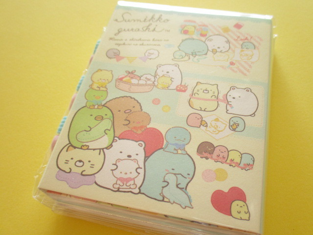 Photo1: Kawaii Cute Patapata Mini Memo Pad Set Sumikkogurashi San-x *しろくまのてづくりぬいぐるみ (MW45101)