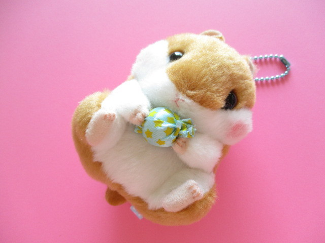 Photo1: Kawaii Cute Hamster Plush Doll Keychain *ころはむコロン