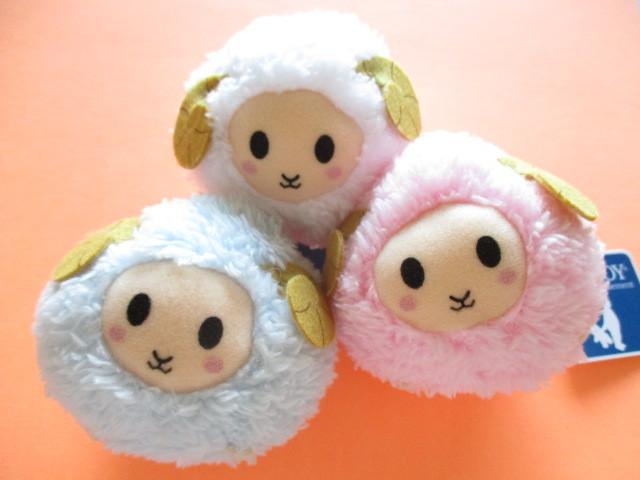 Photo1: 3 pcs Kawaii Cute Sheep Plush Doll Keychains Set