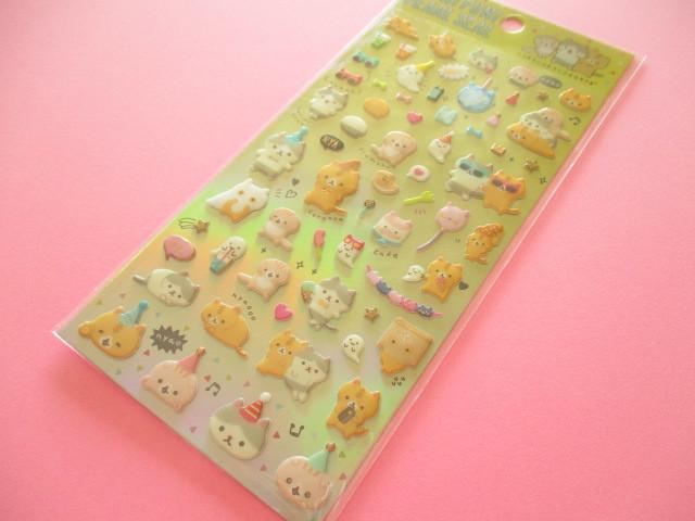 Photo1: Kawaii Cute Funi Funi Pearl Sticker Sheet San-x *Corocorocoronya (SE37008)