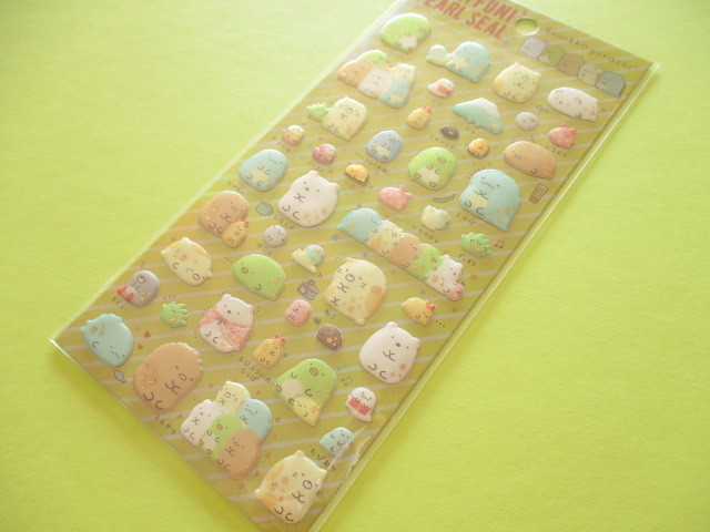 Photo1: Kawaii Cute Funi Funi Pearl Sticker Sheet San-x * Sumikkogurashi (SE37004)
