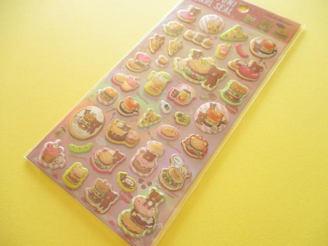 Photo1: Kawaii Cute Funi Funi Pearl Sticker Sheet San-x * Rilakkuma (SE37001)