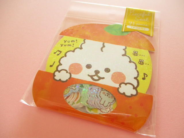 Photo1: Kawaii Cute Sticker Flakes Sack Mind Wave *Lucky Everyday (79386)