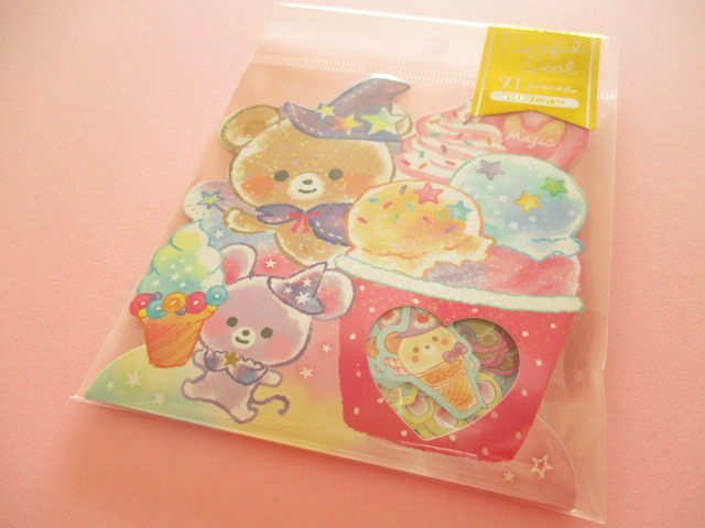 Photo1: Kawaii Cute Sticker Flakes Sack Mind Wave *Crystalmagic Sweets (79387)