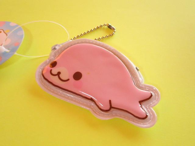 Photo1: Kawaii Cute Mamegoma Mini Coin Purse Keychain San-x *Sakuragoma