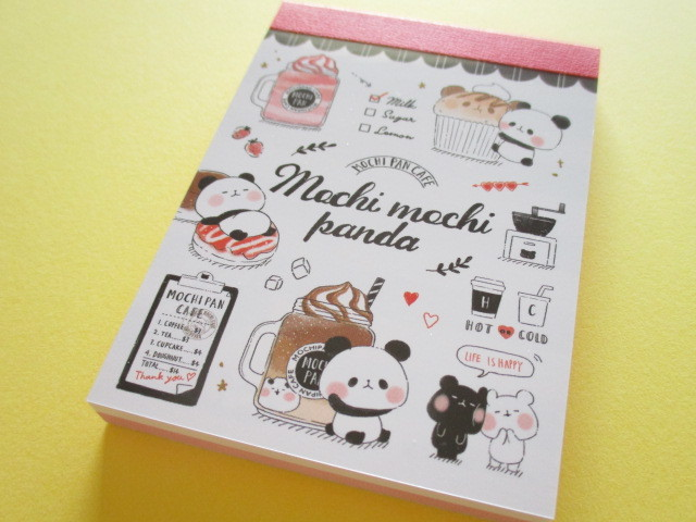 Photo1: Kawaii Cute Mini Memo Pad Mochi Mochi Panda Kamio Japan *Mochi Pan Cafe Time (09079)