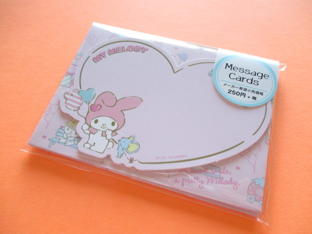 Photo1: Kawaii Cute Mini Message Card Set Sanrio Original *My Melody (58656-1)