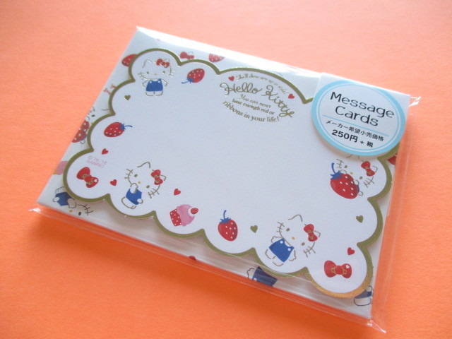 Photo1: Kawaii Cute Mini Message Card Set Sanrio Original *Hello Kitty (58647-1)