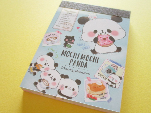Photo1: Kawaii Cute Mini Memo Pad Mochi Mochi Panda Kamio Japan *Cafe Time (09080)