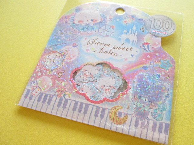Photo1: Kawaii Cute Sticker Flakes Sack Kamio Japan *Sweet Sweet Holic (09205)