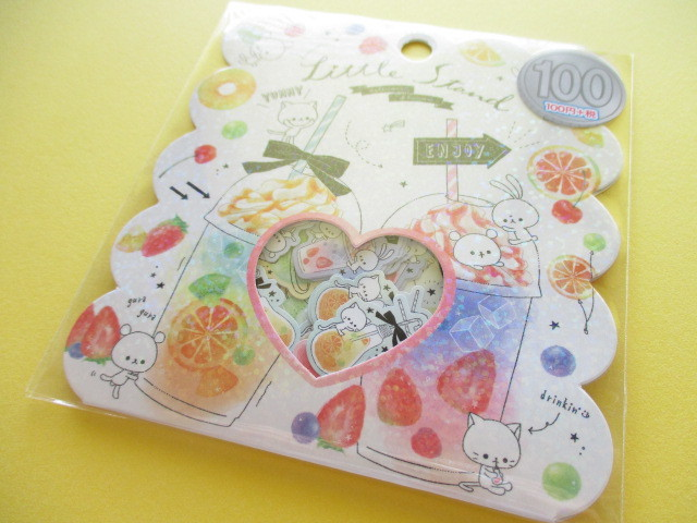Photo1: Kawaii Cute Sticker Flakes Sack Kamio Japan *Little Stand (09202)