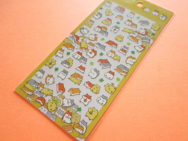 Photo1: Kawaii Cute Animal Stickers Sheet Mind Wave *Hamster (79424)