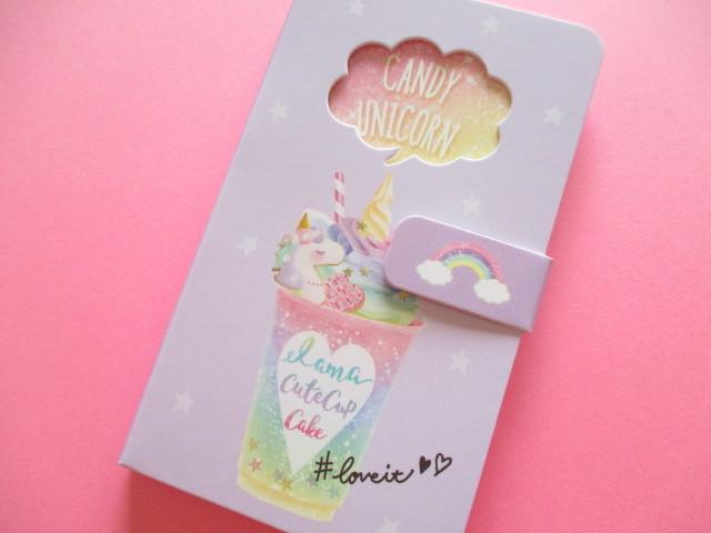 Photo1: Kawaii Cute Smapho Medium Memo Pad Q-LiA *Candy Unicorn (30215)