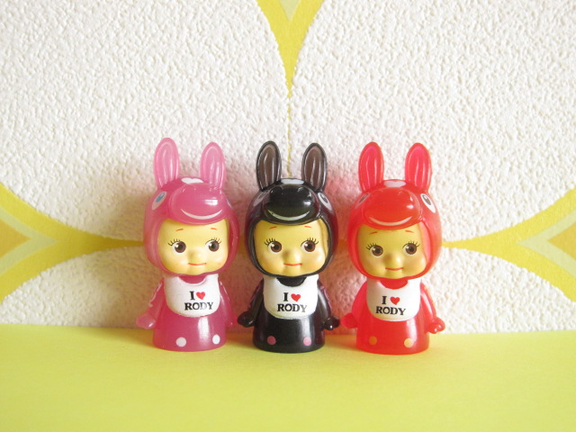 Photo1: Kawaii Cute Kewpie x Rody Tiny Dolls Set *Pink, Red & Black