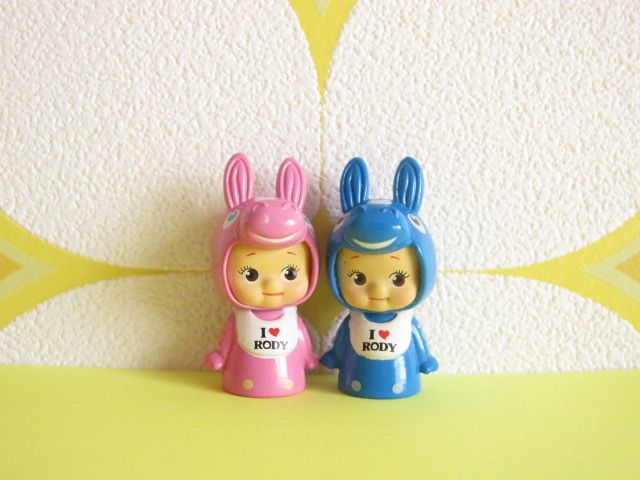 Photo1: Kawaii Cute Kewpie x Rody Tiny Dolls Set *Pink & Blue