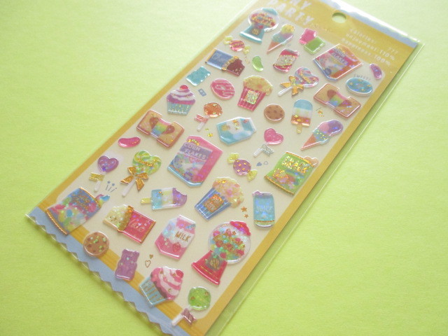 Photo1: Kawaii Cute Tiny Party Stickers Sheet Crux *Candy Smile (05835)