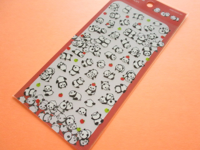Photo1: Kawaii Cute Animal Stickers Sheet Mind Wave *Panda (79421)