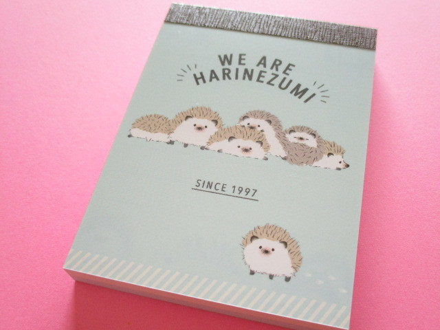 Photo1: Kawaii Cute Mini Memo Pad Q-LiA *We are Harinezumi (30210)