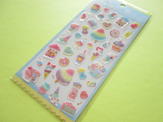 Photo1: Kawaii Cute Tiny Party Stickers Sheet Crux *Milky Sugar (05836)