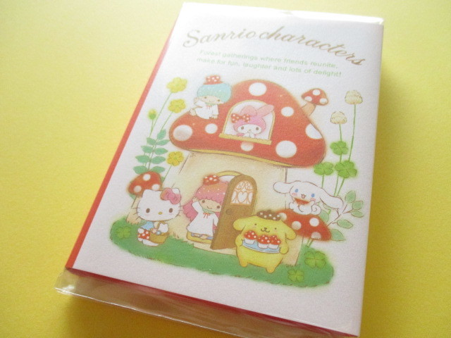 Photo1: Kawaii Cute Patapata Medium Memo Pad Sanrio Original *Sanrio Characters Mushroom (40992-8)