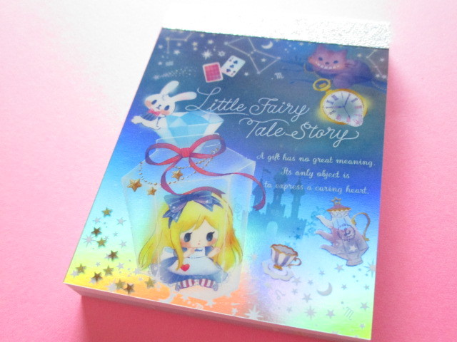 Photo1: Kawaii Cute Mini Memo Pad Little Fairy Tale Q-LiA *Alice (34378)