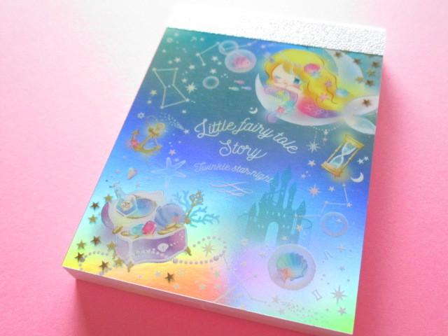 Photo1: Kawaii Cute Mini Memo Pad Little Fairy Tale Q-LiA *Little Mermaid (34381)
