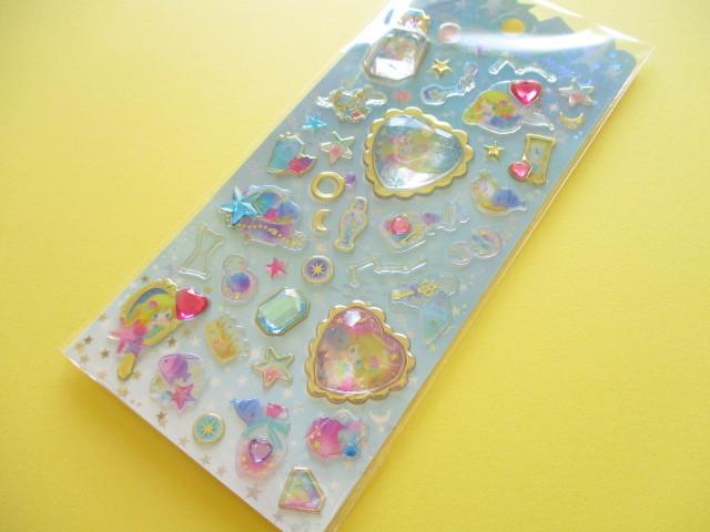 Photo1: Kawaii Cute Stone Stickers Sheet Little Fairy Tale Q-LiA *Little Mermaid (34411)
