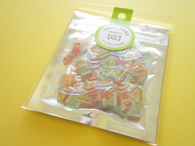 Photo1: Kawaii Cute Drop Peko Sticker Flakes Sack Crux *Cafe Time (05865)