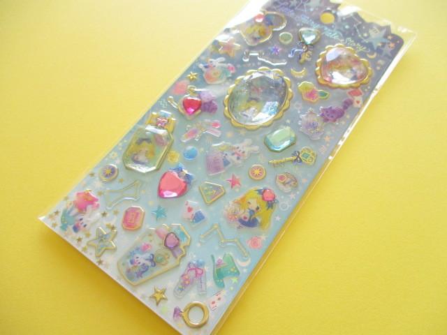 Photo1: Kawaii Cute Stone Stickers Sheet Little Fairy Tale Q-LiA *Alice (34408)